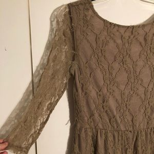 Brown Lace Dress
